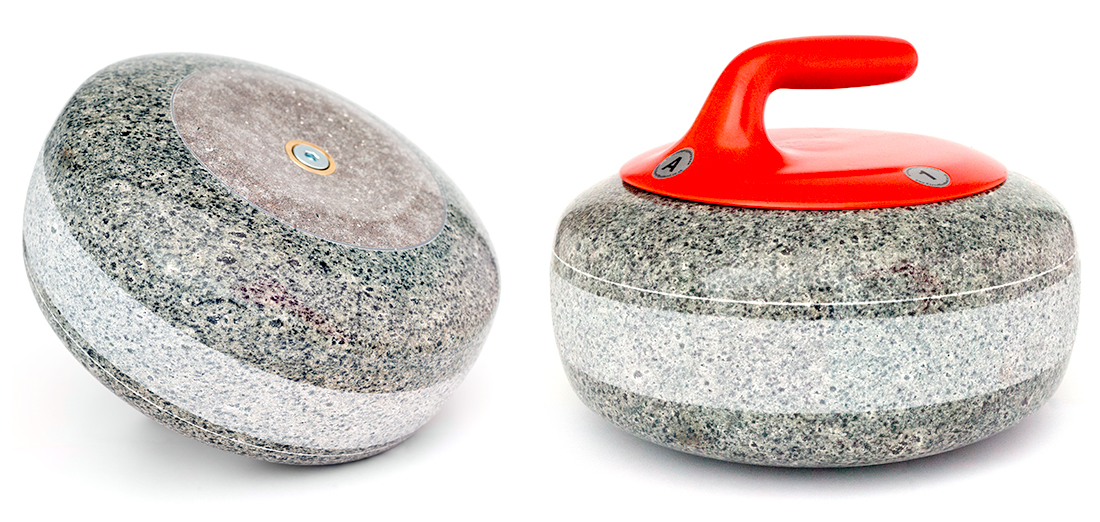 Olympic curling stones olympic